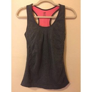 H&M Exercise Tank Top with Inner Liner, Size M